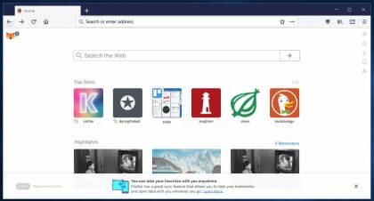 Firefox 57-Mockup