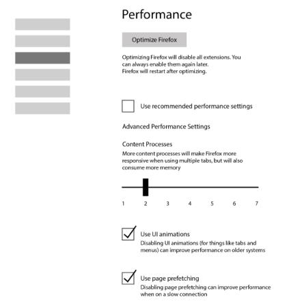 Firefox: Performance-Kompromiss