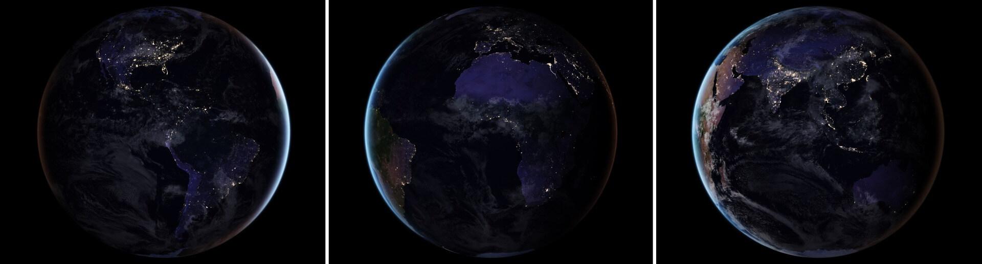 Neue NASA-Satellitenaufnahme: So sieht die Erde bei Nacht aus ...