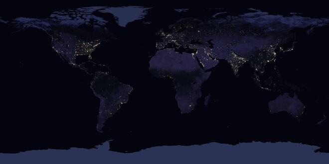 Neue Nasa Satellitenaufnahme So Sieht Die Erde Bei Nacht Aus