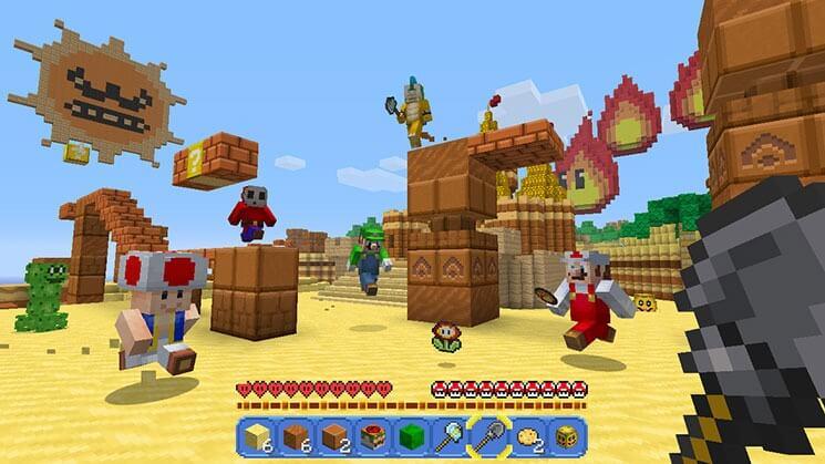 Nimm Das PS Microsoft Und Nintendo Zelebrieren Ihre Freundschaft - Minecraft bogen spiele