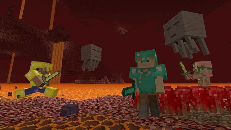 Nimm Das PS Microsoft Und Nintendo Zelebrieren Ihre Freundschaft - Minecraft konsole und pc zusammen spielen
