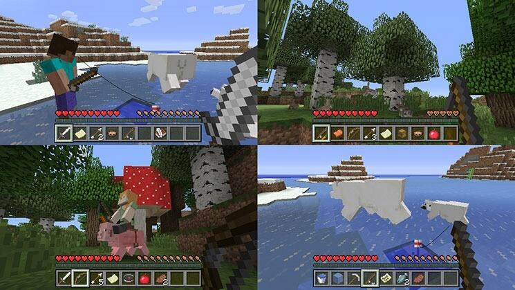 Nimm Das PS Microsoft Und Nintendo Zelebrieren Ihre Freundschaft - Minecraft verkaufte spiele
