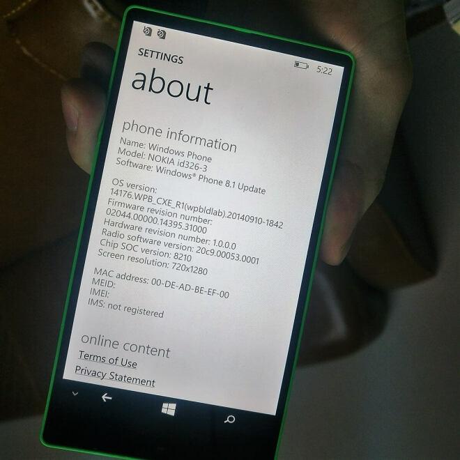 Nokia Lumia id326-3 Prototyp