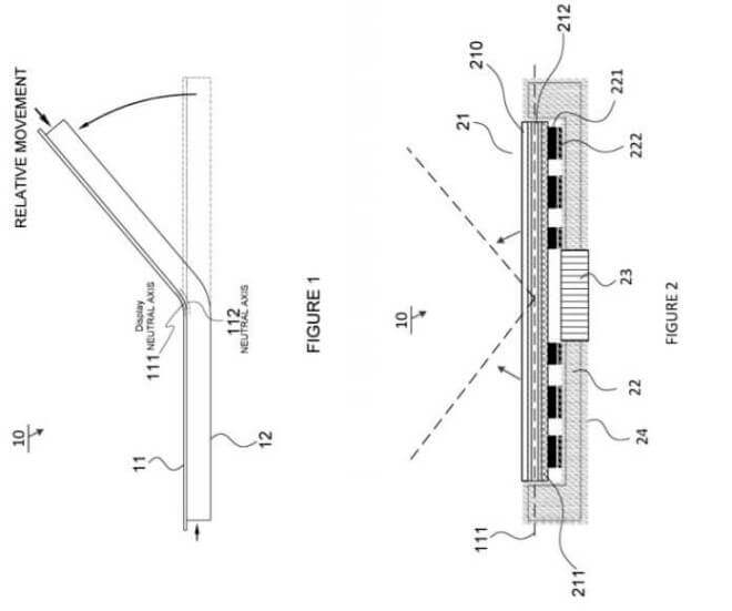 Microsoft-Patent Flexible Hinges Mobile Device