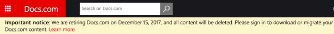 Docs.com wird abgeschaltet