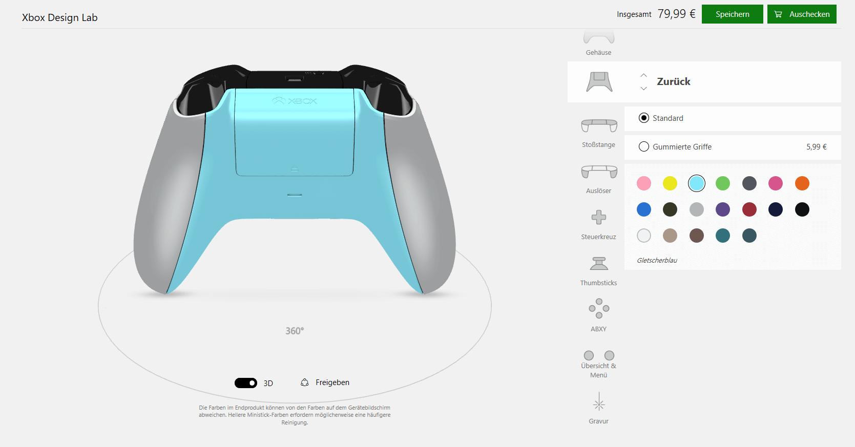 Xbox Design Lab: Selbstgestalten von Controllern nun auch bei uns
