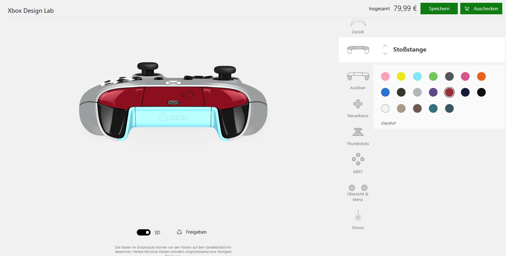 Xbox Design Lab für Controller jetzt auch in Deutschland