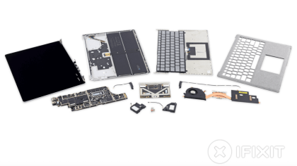 Surface Laptop im Teardown: