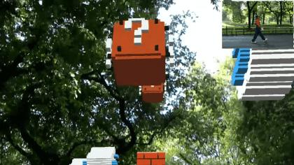 Super Mario in HoloLens