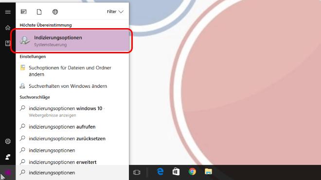 Windows Suche beschleunigen