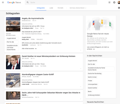 Google News Neues Design