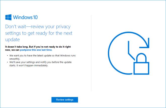 Windows 10 Privatsphäre-Hinweis