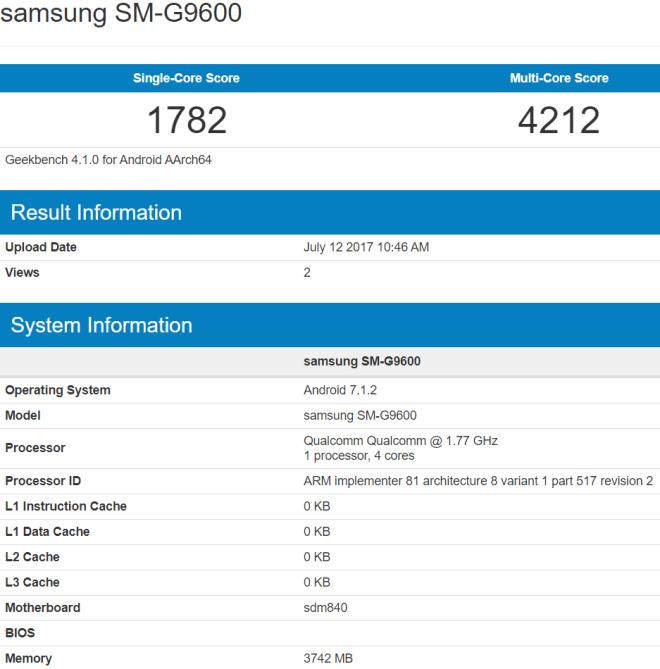 Samsung Galaxy SM-G9600