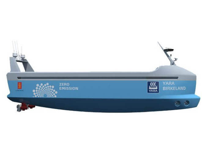 Yara Birkeland - Autonomes Containerschiff
