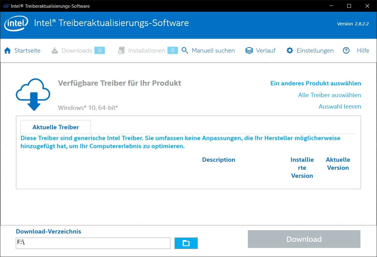 Intel Treiberaktualisierungs-Software - Treiber-Updates