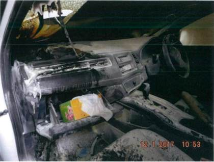 Uber: Brand eines Honda Vezel