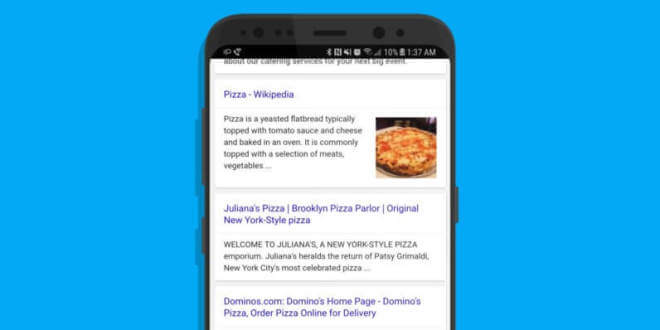 Google: Mobile Suche ohne URL