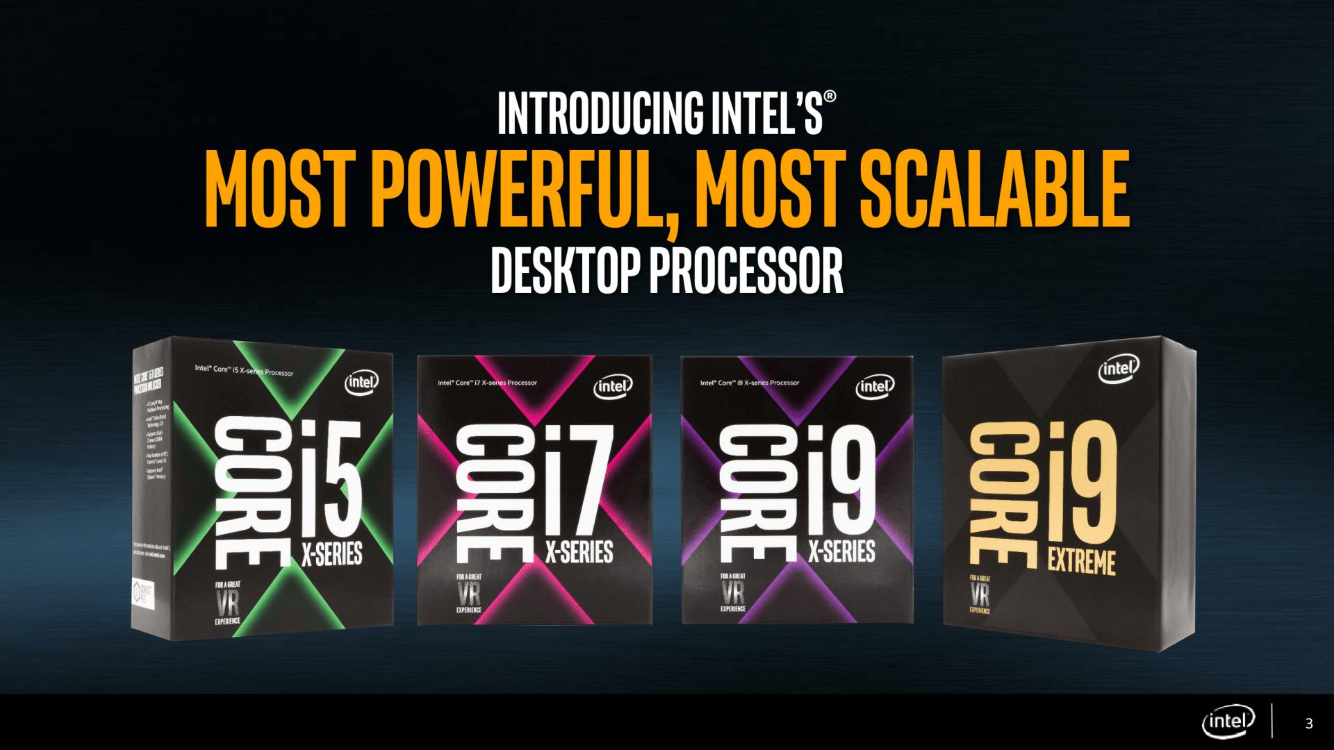 Intel veröffentlicht Spezifikationen der Core-X-Prozessoren