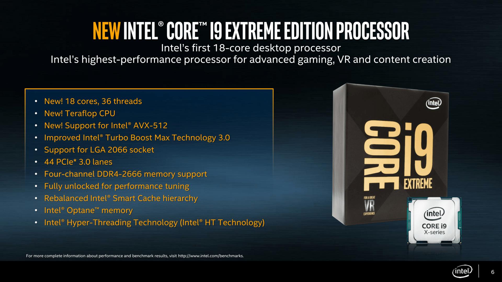Intel Core i9 X - Intel gibt Taktraten für Top-Modelle an