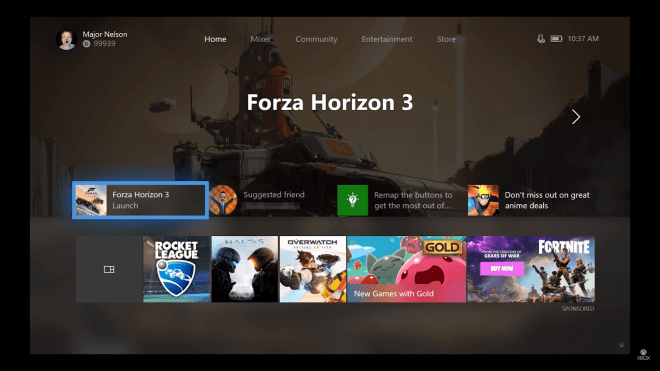 Xbox Dashboard Fall Update 2017