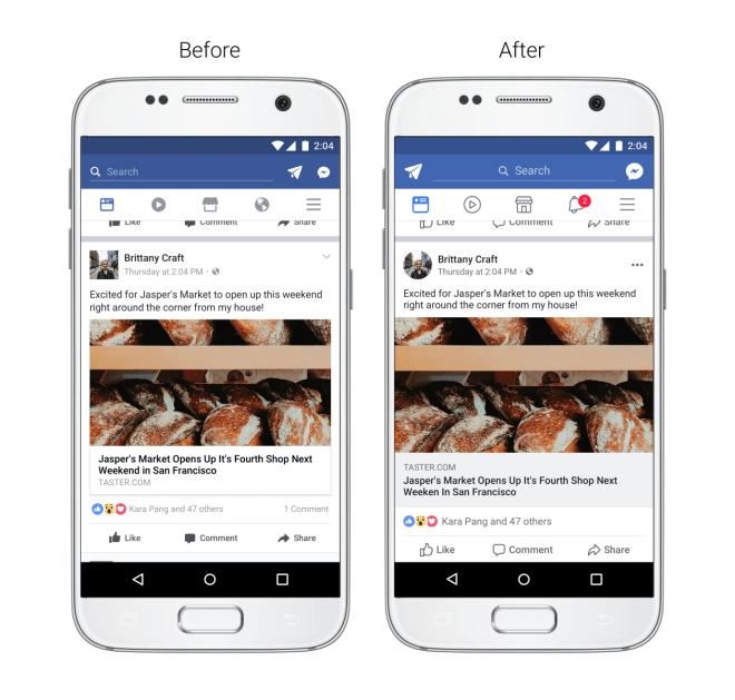 Facebook: Neuer mobiler News Feed