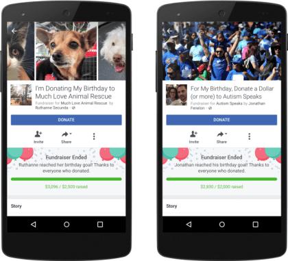 Facebook: Spenden zu Geburtstagen