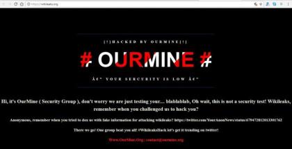 OurMine gegen WikiLeaks
