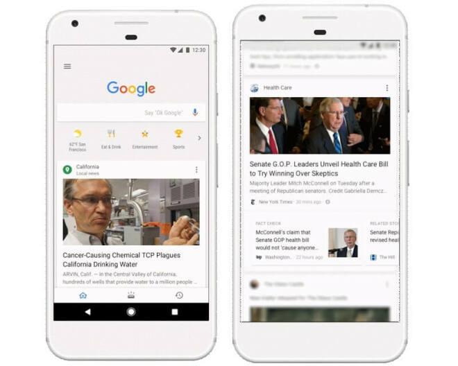 Google Newsfeed für iOS und Android