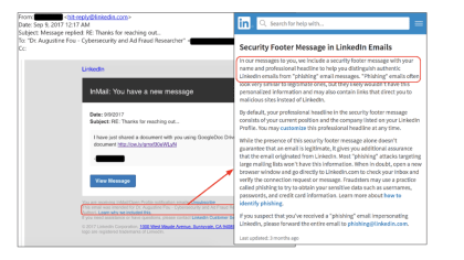 LinkedIn Phishing-Attacke