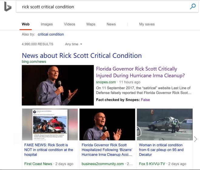 Bing Faktencheck