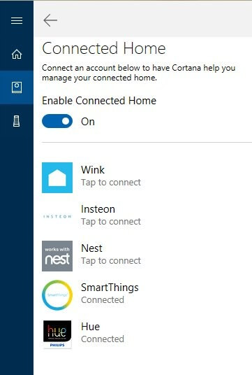 Cortana Connected Home