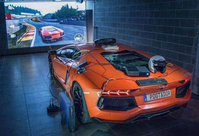 "Lamborghini Aventador als ""Controller"" für Forza Motorsport 7"
