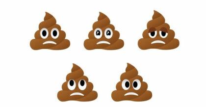 Trauriger Kackhaufen-Emoji