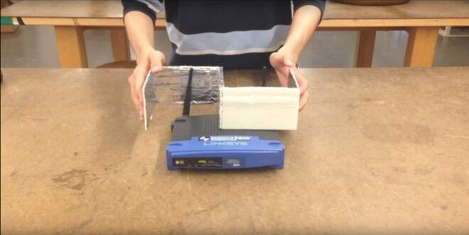 WLAN-Verstärker aus Aluminum