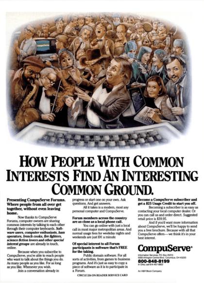 CompuServe-Werbung