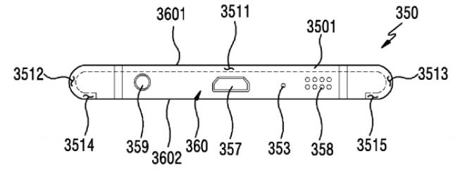 Samsung-Patent: Display wird um Rand des Smartphones gebogen