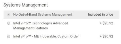 Dell: Option für deaktivierte Intel ME