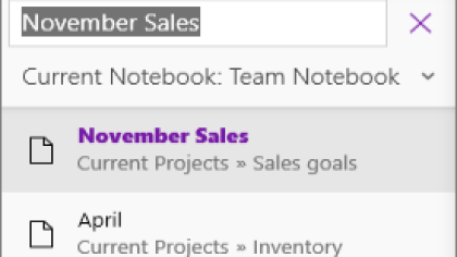 OneNote Dezember-Update