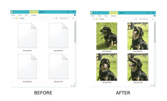CopyTrans HEIC - HEIC-Fotodateien unter Windows anzeigen