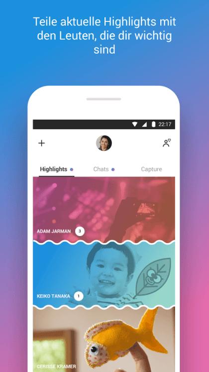 Neues Skype-Design für Android