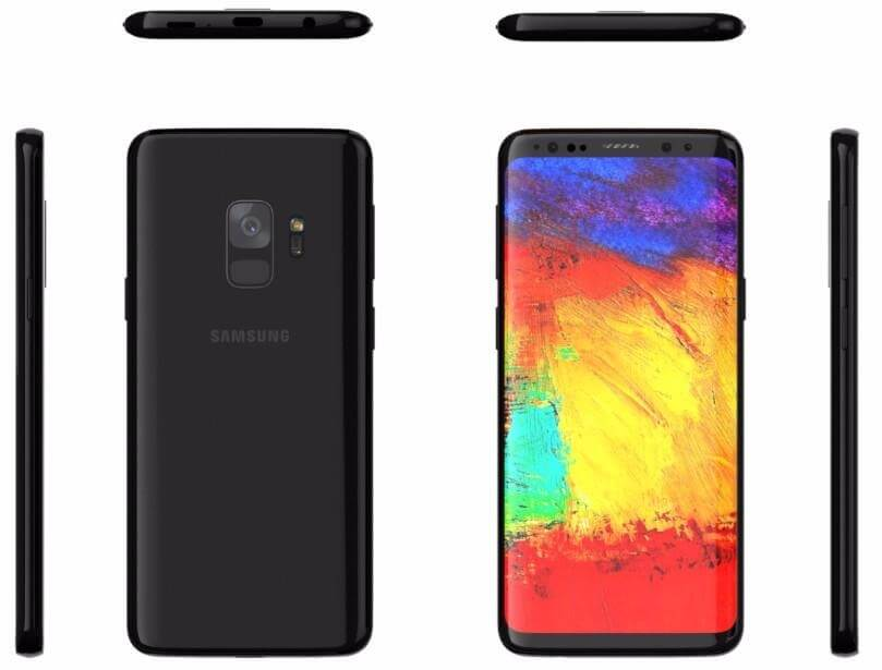 Galaxy S9 Render (Ghostek/Gordon Kelly)