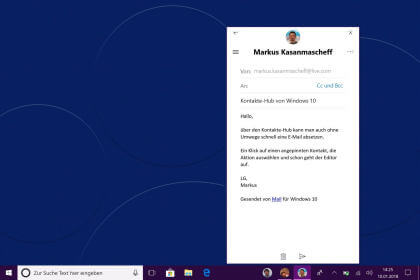 Windows 10 Kontakte-Hub