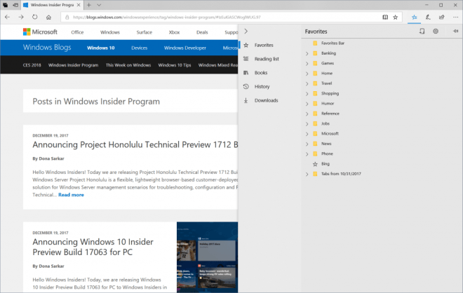 Windows 10 Insider Preview Build 17074