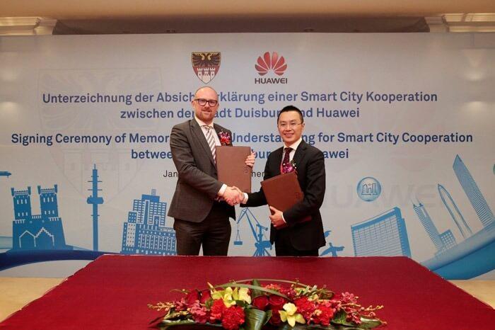 Duisburg und Huawei unterzeichnen Memorandum of Understanding