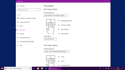 Windows 10 Touchpad Einstellungen