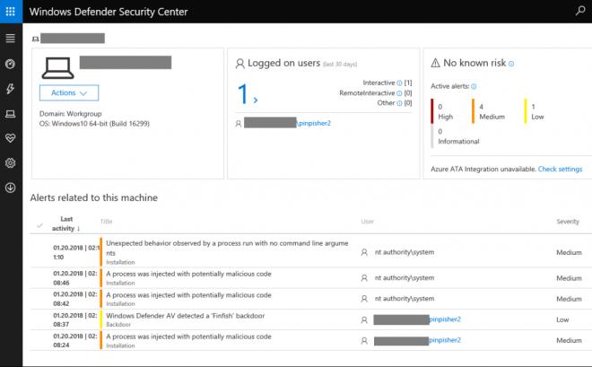 Windows ATP-Plattform erkennt FinFishers Staatstrojaner