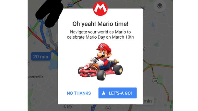 Super Mario Kart in Google Maps