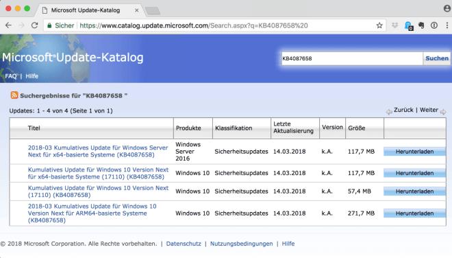 Kompatibilitätsupdate für Windows 10 Spring Creators Update