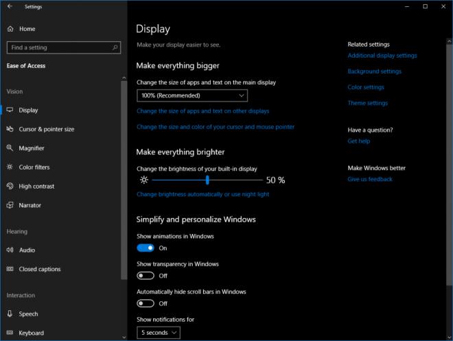 Windows 10 Bedienhilfen